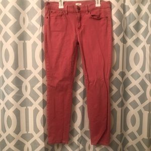 coral colored j crew pants